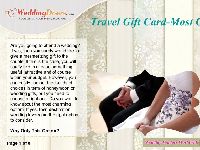 travel gift card most charming honeymoon wedding gift