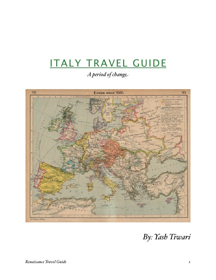 ITALY TRAVEL GUIDE                              A period of change                                                       B...