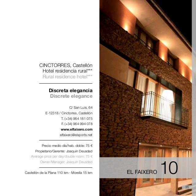 Travel guide Comunitat Valenciana (rural accomodation and restaurants)