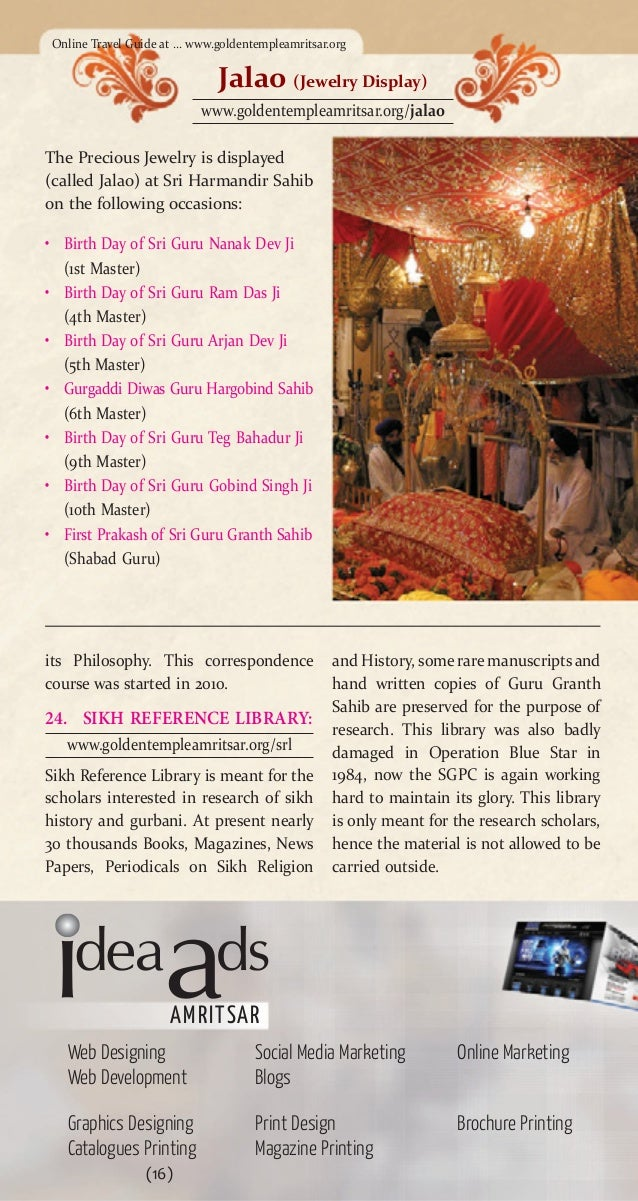 Travel Guide To Golden Temple Travel Guide To India