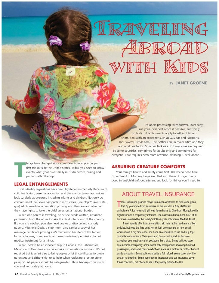 Traveling Abroad With Children