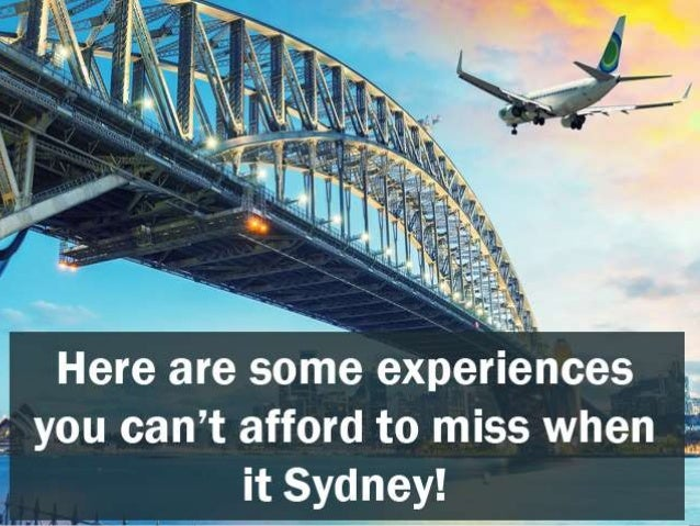 Things That You Cant Miss When Traveling To Sydney