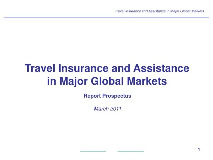 Travel Insurance and Assistance in Major Global MarketsTravel Insurance and Assistance    in Major Global Markets         ...