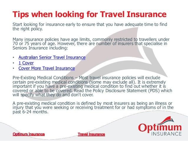 Travel insurance for seniors