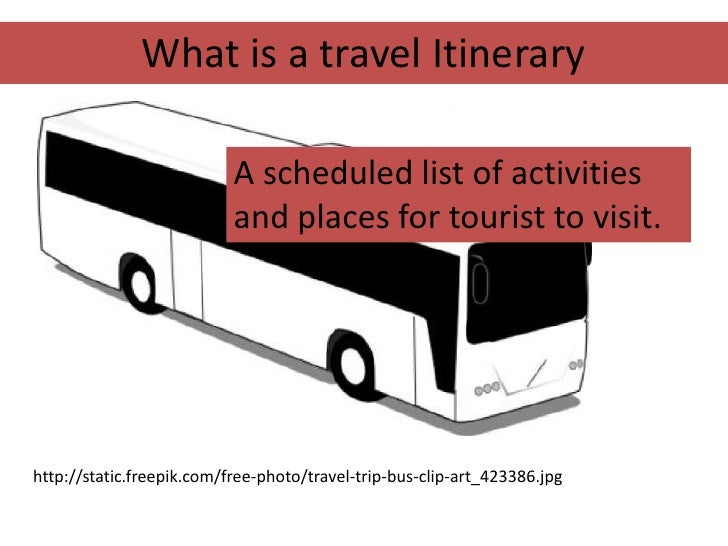2 What Is A Travel Itinerary