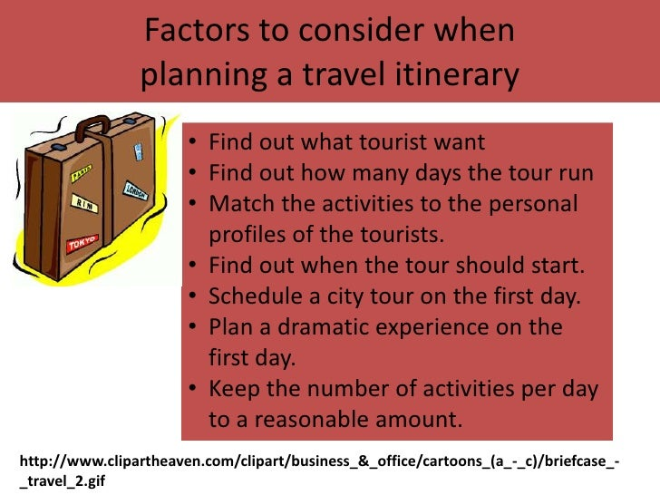 6 Factors To Consider When Planning A Travel Itinerary