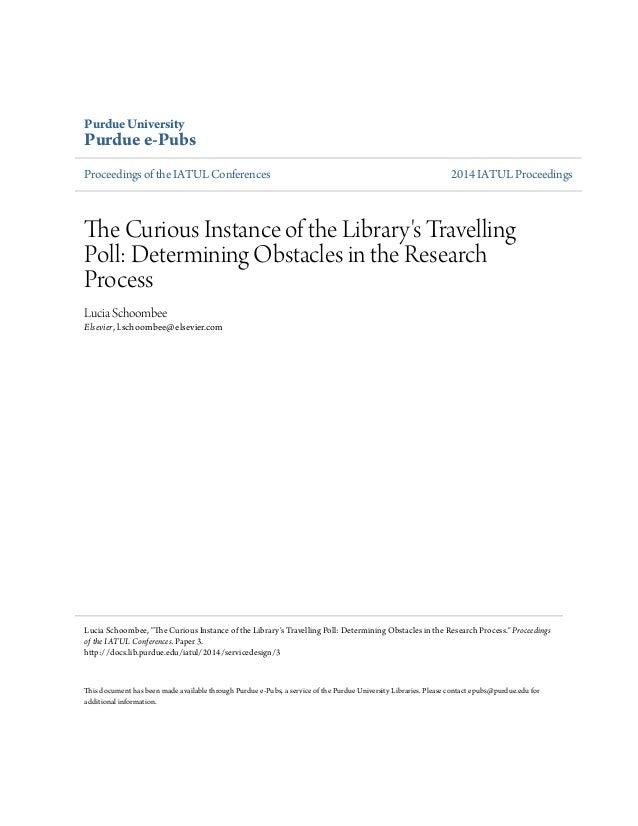 Purdue University  Purdue e-Pubs  Proceedings of the IATUL Conferences 2014 IATUL Proceedings  The Curious Instance of the...