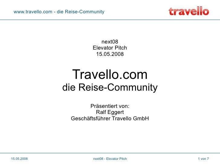 www.travello.com - die Reise-Community                                          next08                                   E...