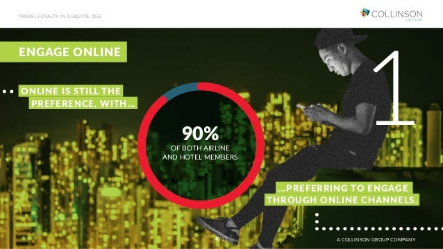 ENGAGE ONLINE 90% OF BOTH AIRLINE AND HOTEL MEMBERS ...PREFERRING TO ENGAGE 1ONLINE IS STILL THE PREFERENCE, WITH... THROU...