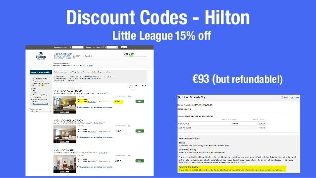 Discount for hilton employees : All inclusive resort trips