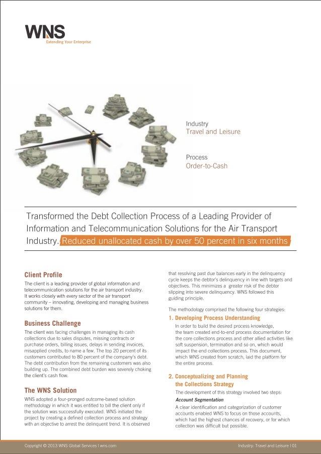 WNS Case Study of Debt-Collection Process Transformation