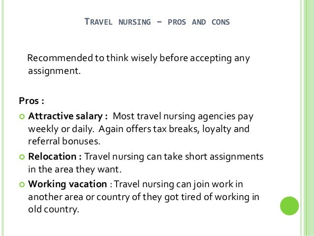a5fae5b0780 So I would; 2. TRAVEL NURSING – PROS AND CONS ...