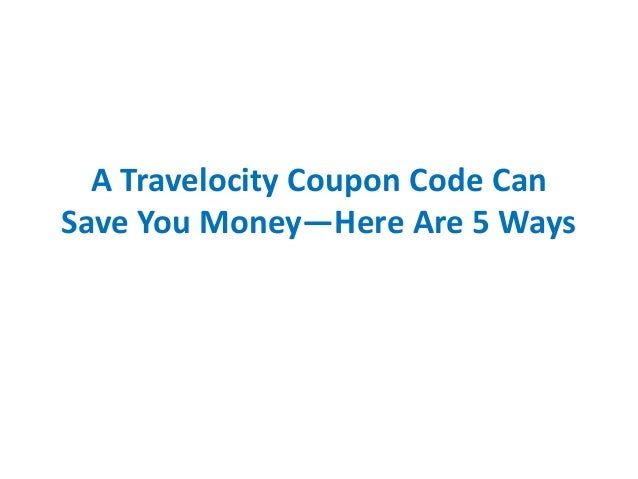 Coupon code for travelocity