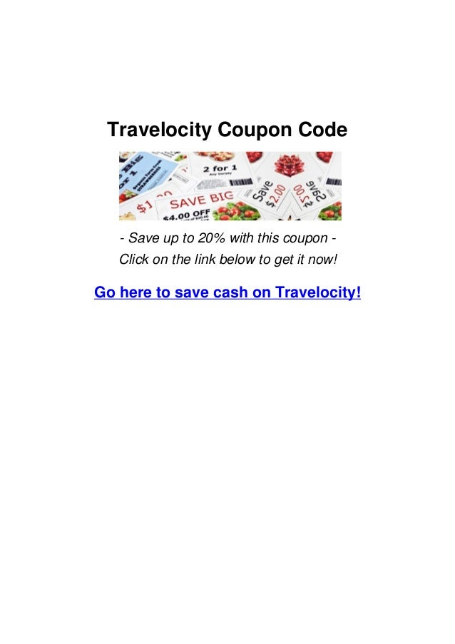 Travelocity Coupon Code- Save up to 20% with this coupon -Click on the link below to get it now!Go here to save cash on Tr...