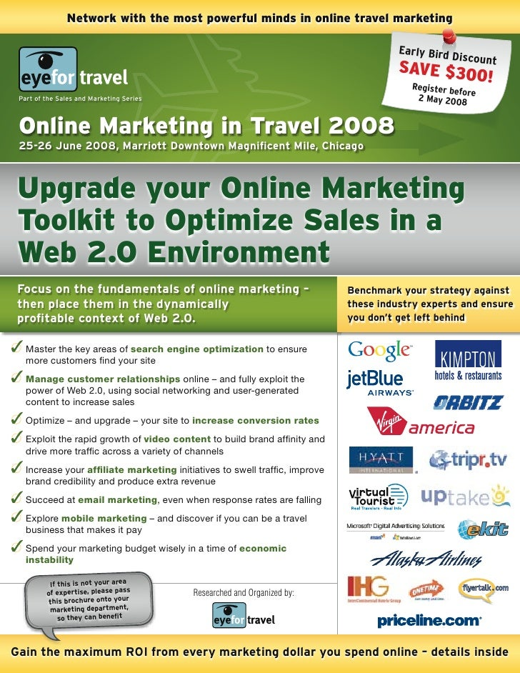 Network with the most powerful minds in online travel marketing                                                           ...