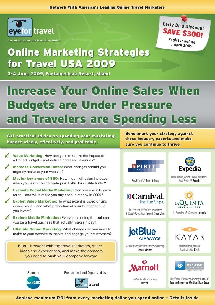 Network With America's Leading Online Travel Marketers                                                                    ...