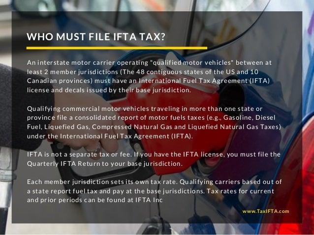 IFTA Fuel Tax Online Preparation Slide 3