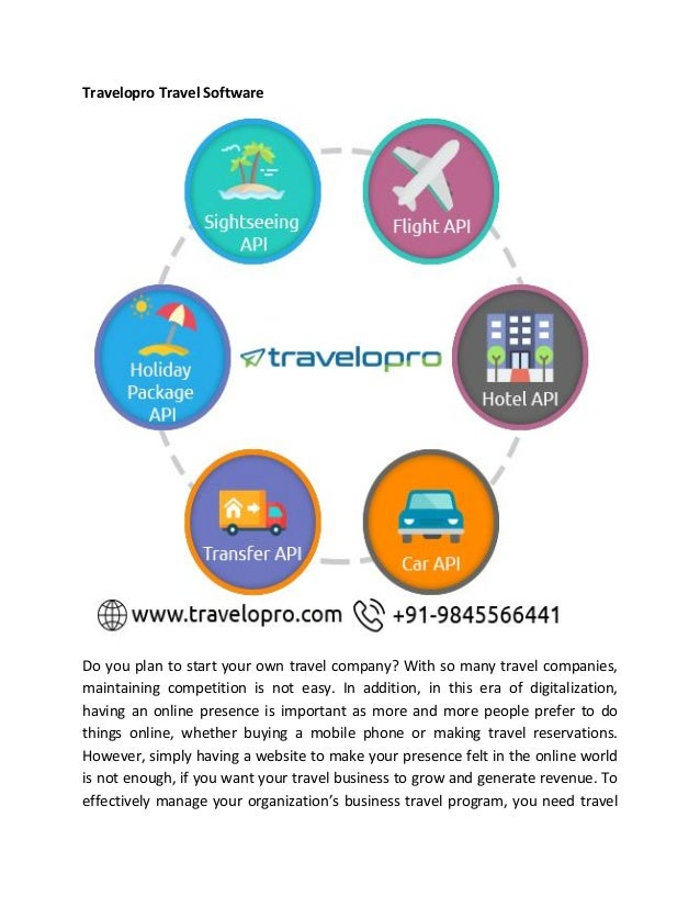 Travelopro Travel Software Do you plan to start your own travel company? With so many travel companies, maintaining compet...