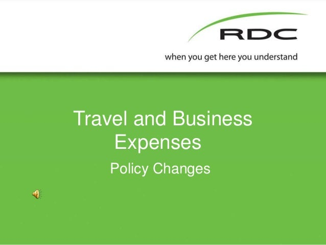Travel and Business Expenses Policy Changes