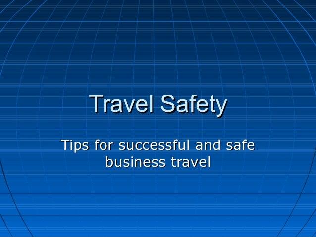 travel safety presentation