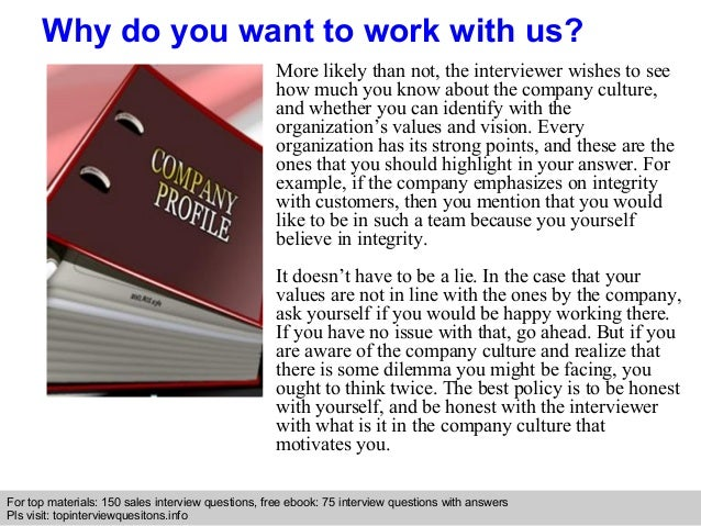 why work for a company
