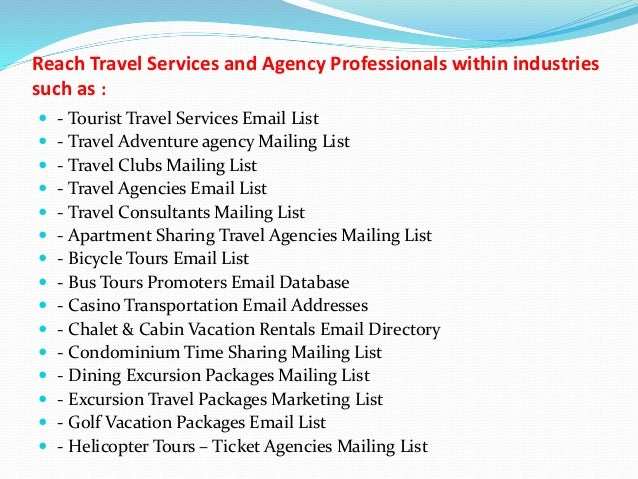 List Of Services Provided By Travel Agency | Myvacationplan org