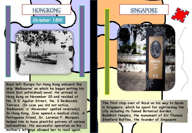travels of rizal Jos rizal's life timeline shows his writing career in may rizal gets money from his brother and travels secretly from manila to spain aboard a french ship and railroad entering spain at the port bou jos rizal life timeline by yourdictionary.