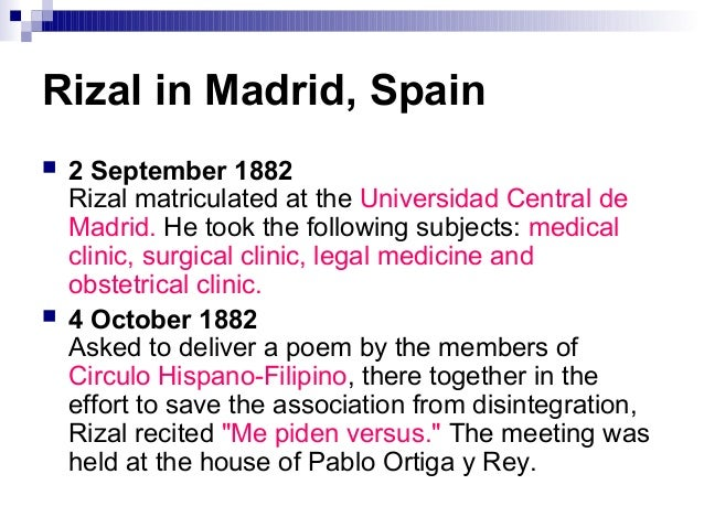 travels of rizal Oftalmologico jose rizal, university of the philippines–philippine general  hospital, on june  this was the spain that rizal saw during his travels it was  the.