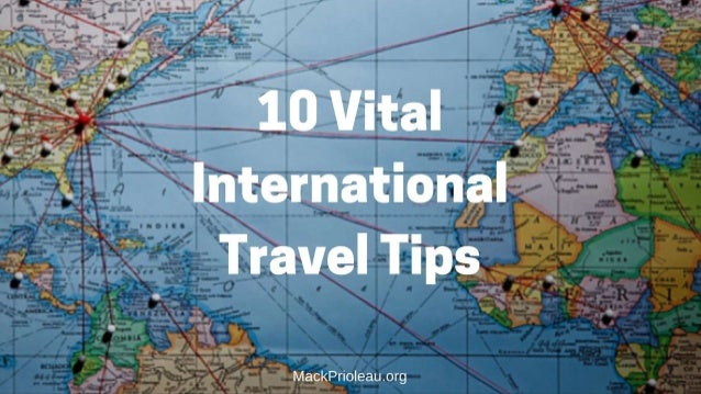 10 Vital International Travel Tips