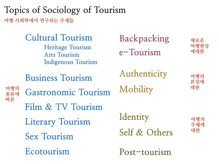 sociology of tourism Cultural tourism could be defined as tourism that focuses on cultural attractions and activities as a primary motivating factor for travel notwithstanding the broad definitions of culture that abound within postmodern and populist writings, parameters need to be drawn around what is defined as ''culture'' in this context.