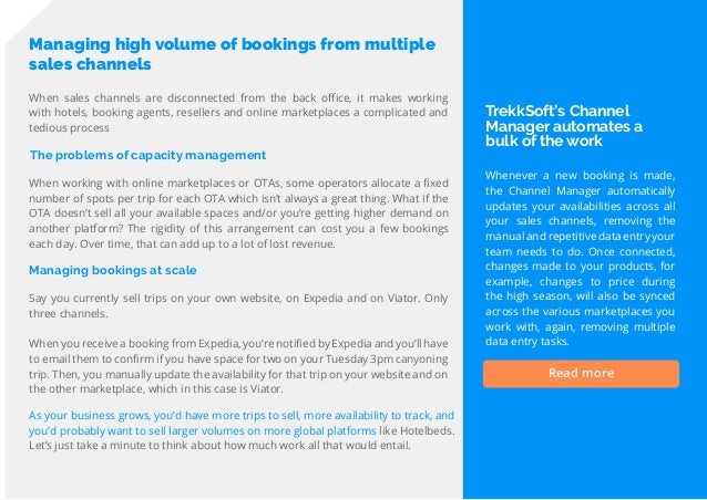 16 Travel Trend Report 2019 Managing high volume of bookings from multiple sales channels The problems of capacity managem...