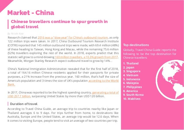 40 Travel Trend Report 2019 Chinese travellers continue to spur growth in global travel By Nicole Kow Research claimed tha...