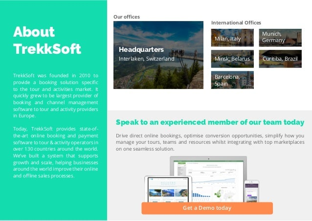 5 Travel Trend Report 2019 About TrekkSoft TrekkSoft was founded in 2010 to provide a booking solution specific to the tou...
