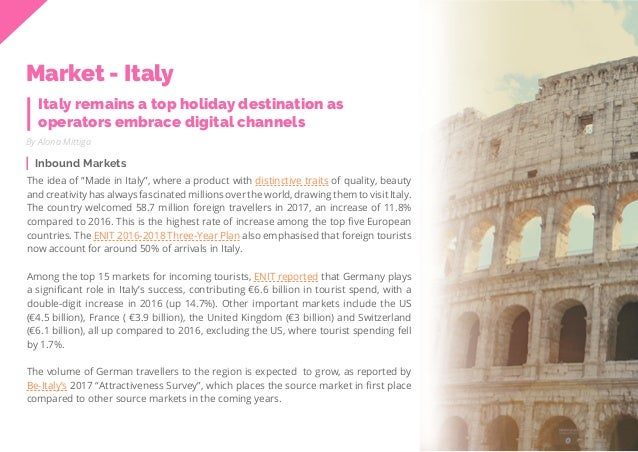 """51 Travel Trend Report 2019 By Alona Mittiga The idea of """"Made in Italy"""", where a product with distinctive traits of quali..."""