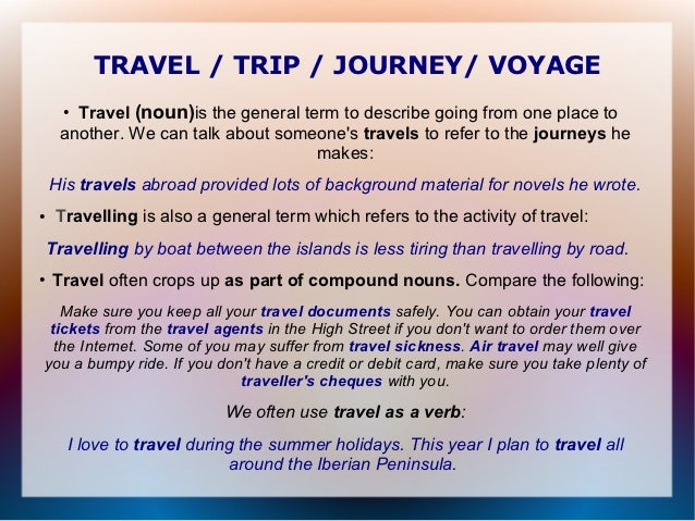 travelling [noun or adjective?]