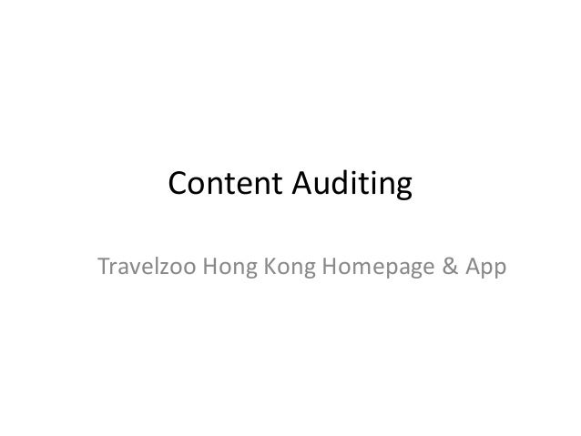 Content Auditing Travelzoo Hong Kong Homepage & App