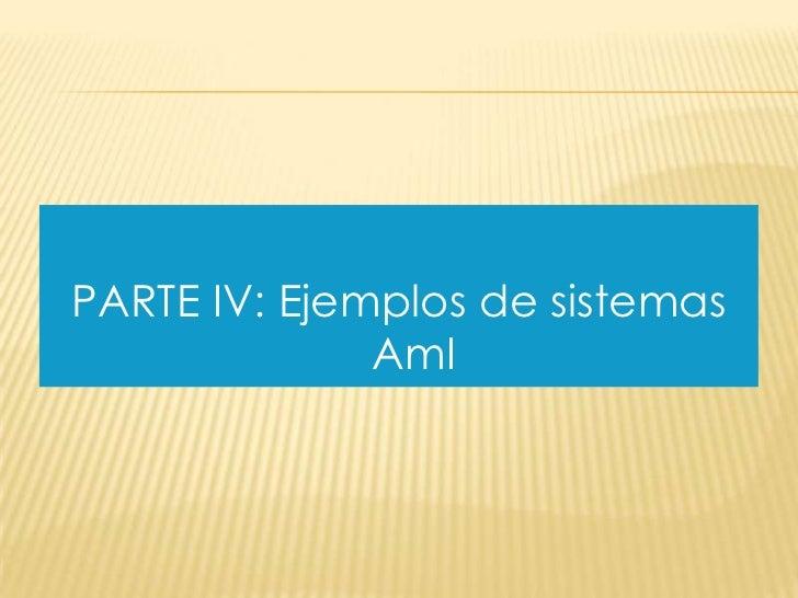 PARTE IV: Ejemplos de sistemas              AmI