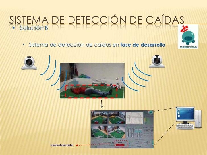 SISTEMA DE DETECCIÓN DE CAÍDAS Solución B   • Sistema de detección de caídas en fase de desarrollo               ¡Caída d...
