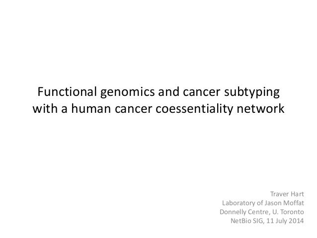 Functional genomics and cancer subtyping with a human cancer coessentiality network Traver Hart Laboratory of Jason Moffat...