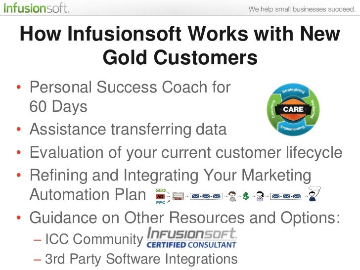 How Infusionsoft Works With New Gold Customers 22
