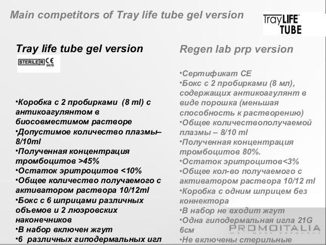 Kit Regen Kit tray life tube gel version Lab prp version