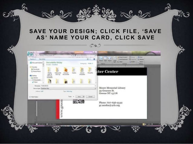 Using publisher to design and print business cards 12 reheart Image collections