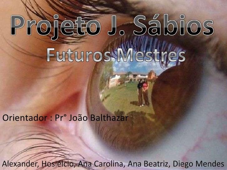 <ul><li>Orientador : Pr° João Balthazar  </li></ul>