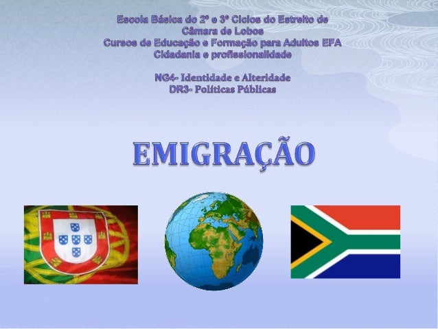 INTRODUÇÃO  Neste trabalho, foi-nos proposto abordar o tema da Emigração. O nosso grupo irá demonstrar neste PowerPoint, ...