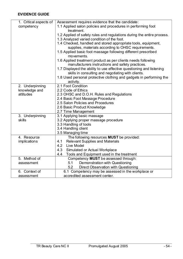 tr beauty care nc ii rh slideshare net Company Policy Procedures Manual Policy Book