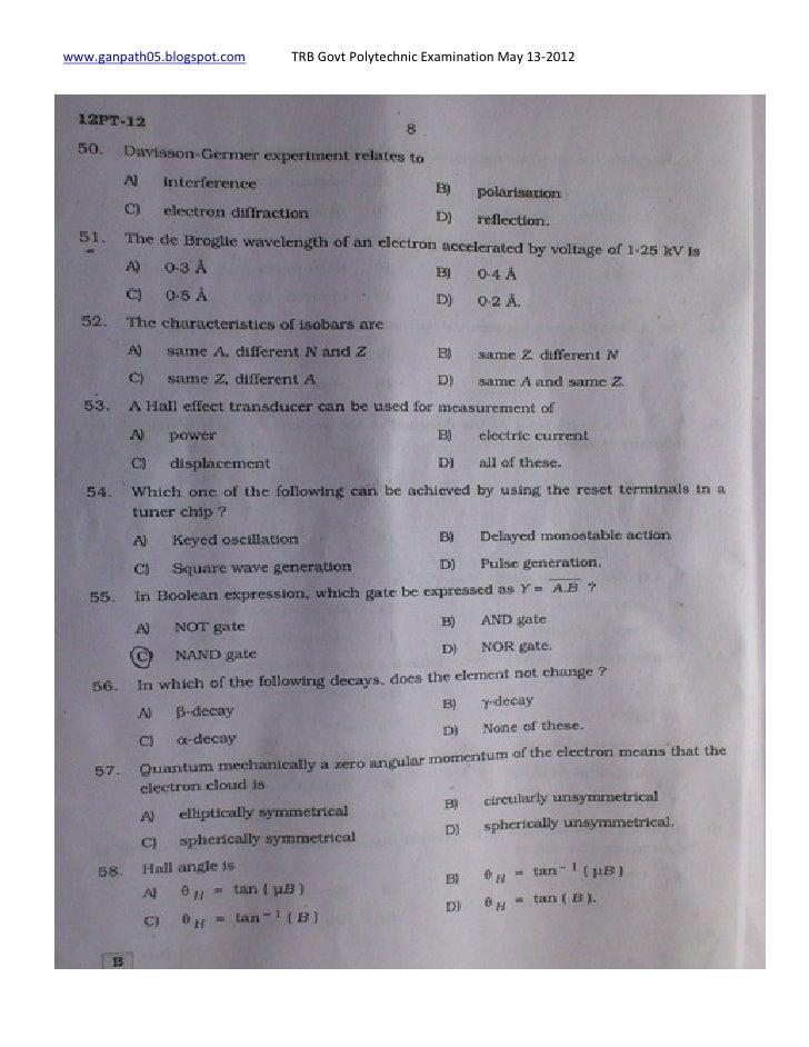 TRB Tripura PGT TGT Teacher Syllabus 2018 – Download TRB Tripura PGT TGT Teacher Exam Pattern PDF