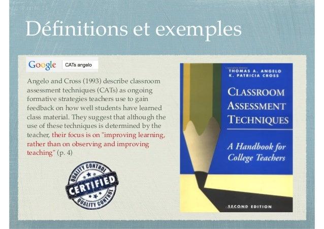 Innovative Classroom Assessment Techniques ~ Dynamisez vos cours magistraux à l aide des techniques de