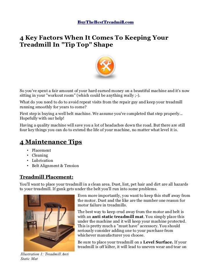Treadmill Maintenance Guide