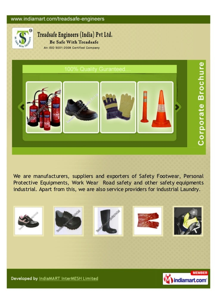 We are manufacturers, suppliers and exporters of Safety Footwear, PersonalProtective Equipments, Work Wear Road safety and...