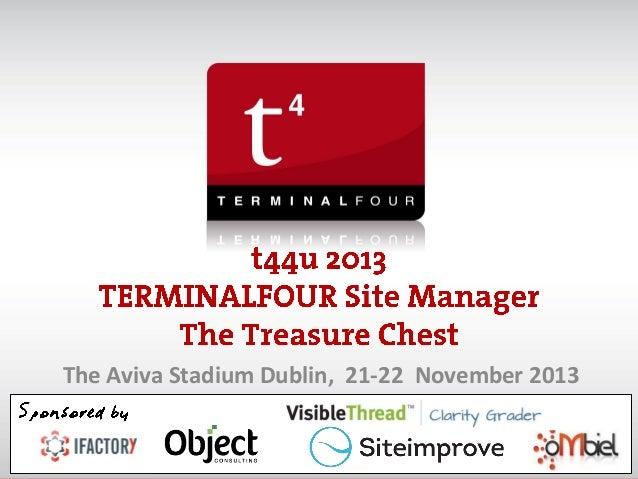 The Aviva Stadium Dublin, 21-22 November 2013